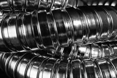 Modern chrome hose Stock Photo