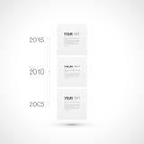 Modern chronologie infographic ontwerp met uw tekst stock illustratie