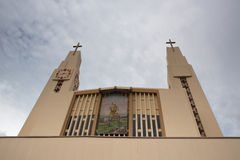 Modern chruch at Alejuela Stock Photography