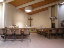 Modern church. Interior (Church of Santa Monica, Turin, Italy royalty free stock image