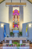 Modern Church Altar Interior View Stock Image