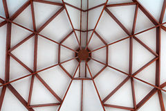 Modern church ceiling. Made of wood Stock Images
