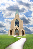 Modern church in countryside Stock Image