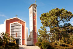 Modern Church Facade Royalty Free Stock Photography