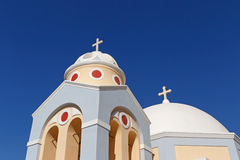Modern church in Fira Royalty Free Stock Photos