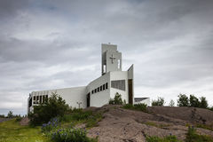 Modern church in Iceland Royalty Free Stock Image