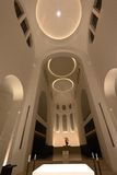 Modern Church interior with altar Royalty Free Stock Photo