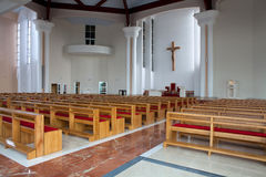 Modern church interior Royalty Free Stock Image