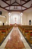 Modern church interior. By night royalty free stock image