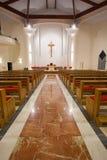 Modern church interior. By night royalty free stock photos