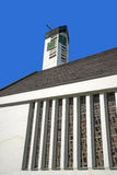Modern church with a large side window Royalty Free Stock Photos