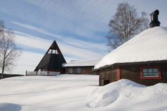 Modern church in Sweden Royalty Free Stock Photography