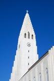 Modern church in Reykjavik, Iceland. Northern Europe stock image