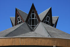 Modern church roof Stock Images