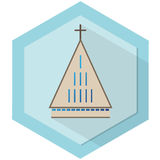 Modern Church. Simple illustration of modern geometry based church Royalty Free Stock Image