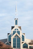 Modern church with steeple Stock Photography