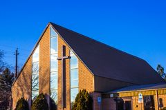 Modern Church At Sunrise Royalty Free Stock Photos