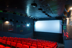 Modern cinema auditorium Stock Photos