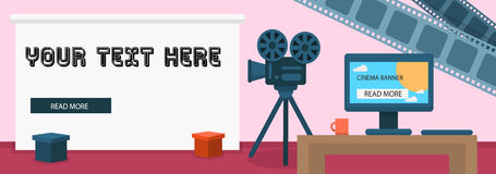 Modern cinema banner vector. For your ideas Royalty Free Stock Photography