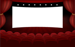 Modern cinema hall banner. Vector for your ideas Stock Photo