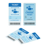 Modern cinema  tickets  on write background. Entertainment Tickets.  Icon for online booking of tickets. Modern Stock Image