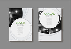 Modern Circle abstract green  modern cover book Brochure template Royalty Free Stock Photography