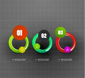 Modern circle abstract option banner Royalty Free Stock Photos