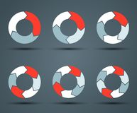 Modern  circle arrows for info graphic Royalty Free Stock Image