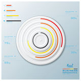 Modern Circle Business Infographic Royalty Free Stock Photos