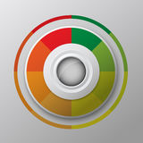 Modern circle button design Stock Images