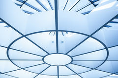 Modern circle ceiling. In blue horizontal view Royalty Free Stock Images