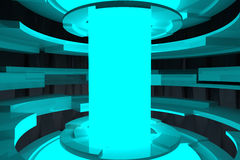 Modern circle  3D rendering Stock Photo