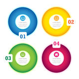 Modern Circle Design full color template Royalty Free Stock Photo