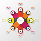 Modern circle infographic design template. Vector Royalty Free Stock Photos