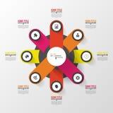 Modern circle infographic design template. Vector Royalty Free Stock Photos