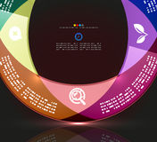 Modern circle infographic minimal design template. Modern minimal infographic circle design. Can be used as a background, web design, infographics, banner Stock Photos