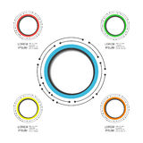 Modern circle infographic Royalty Free Stock Images