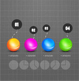 Modern circle steps infographics Stock Photography