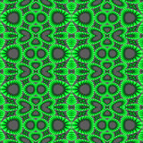 Modern circles and ellipses pattern green dark gray Royalty Free Stock Photo