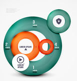 Modern circles infographic template Royalty Free Stock Photos
