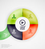 Modern circles infographic template Royalty Free Stock Photography