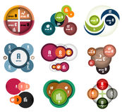 Modern circles option banner templates set Royalty Free Stock Images