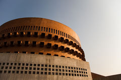 Modern Circular Brick building Royalty Free Stock Images