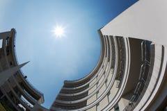 Modern circular building Royalty Free Stock Image