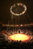 Modern circus. Brightly shined empty arena in modern circus Stock Images