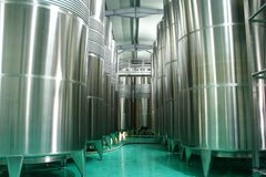 Modern cistern for wine. Storage royalty free stock image