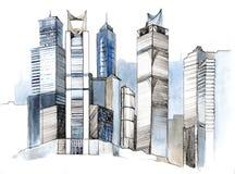 Modern city stock illustration