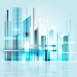 Modern city. Illustration of a abstract future city Stock Photography