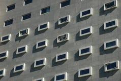 Modern city. Framed windows Stock Photo