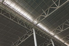 Modern city architecture ceiling detail Royalty Free Stock Photos